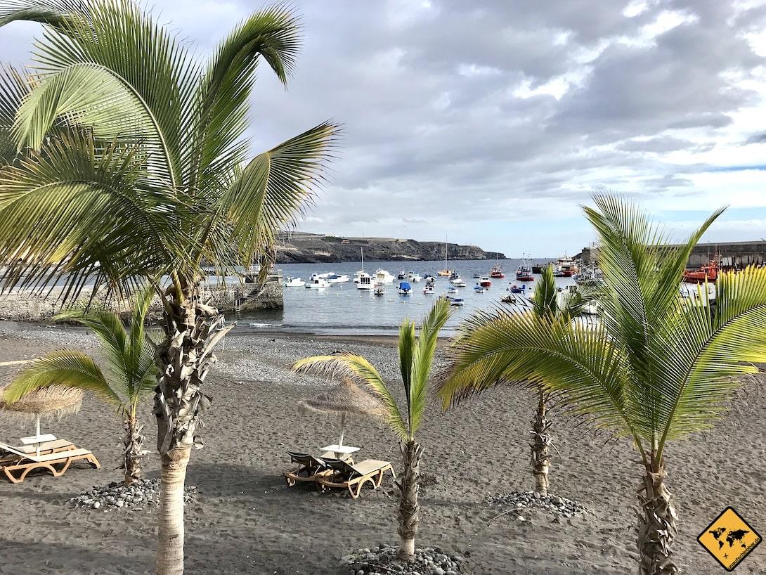 Playa San Juan Teneriffa Palmen Strand