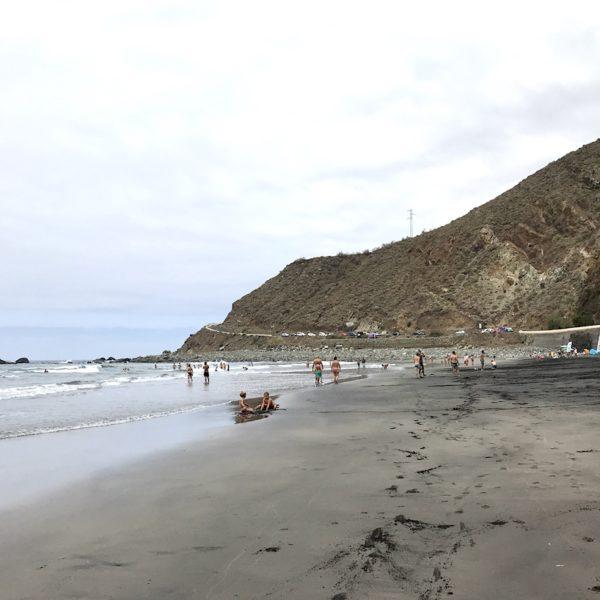 Blick auf den Playa de Almáciga im Macizo de Anaga