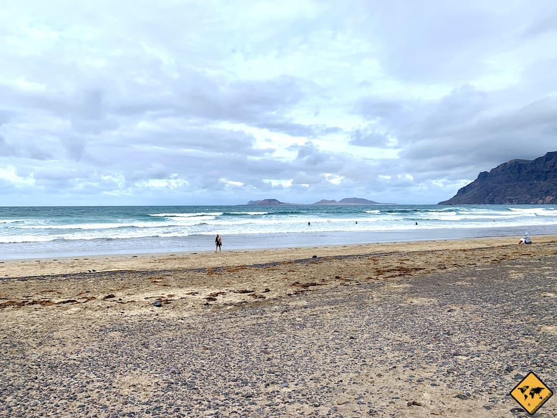 Playa de Famara raues Wetter