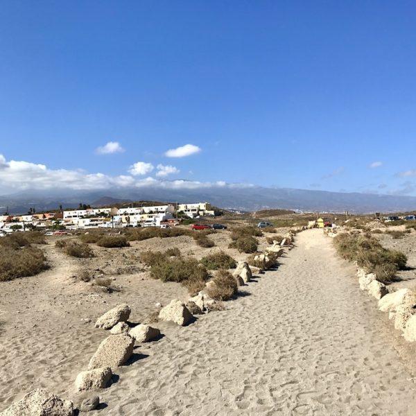 Playa de La Tejita El Médano Teneriffa Weg