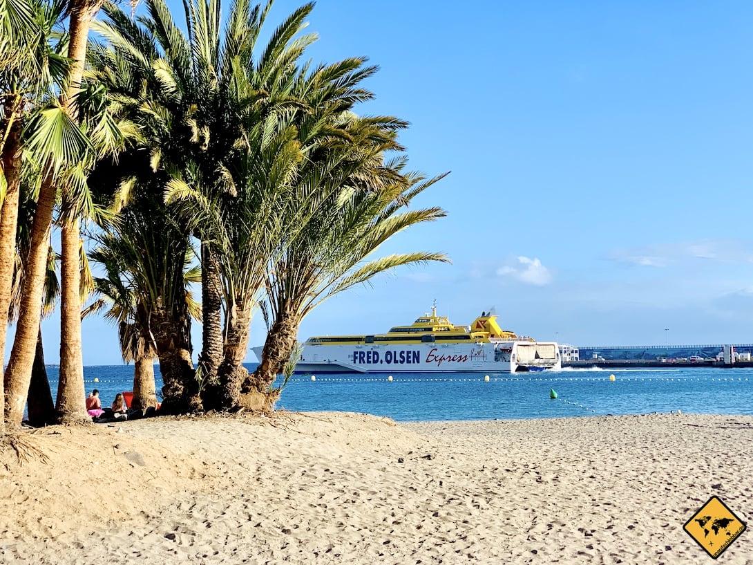 Playa de Los Cristianos Sandstrand Teneriffa