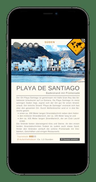Playa de Santiago - 88 La Gomera Highlights Sehenswürdigkeiten Ausflüge Aktivitäten Orte
