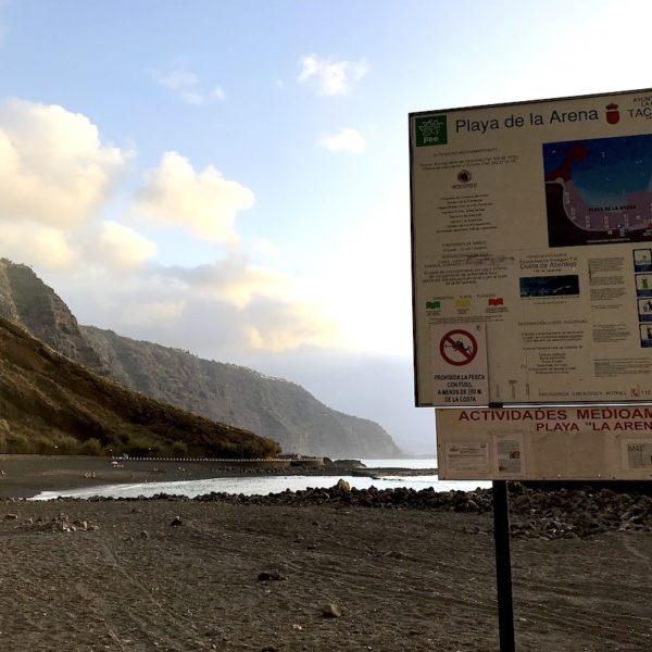 Playa de la Arena Strand Schild