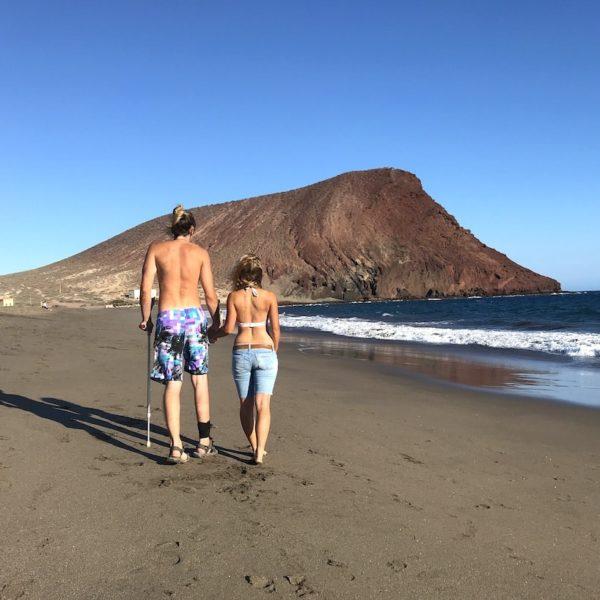 Playa de la Tejita Strand auf Teneriffa