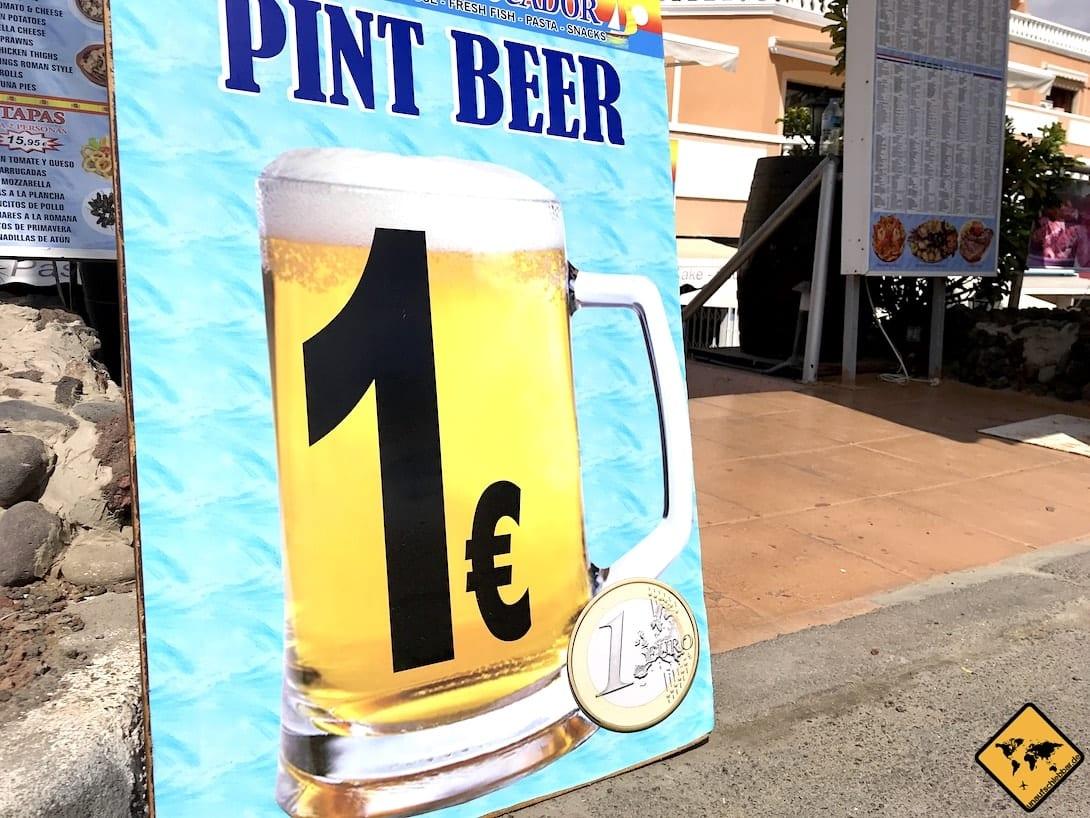 Playa de las Américas Bier