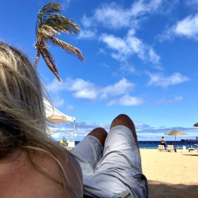 Karibik-Feeling ist am Playa de las Teresitas definitiv inbegriffen