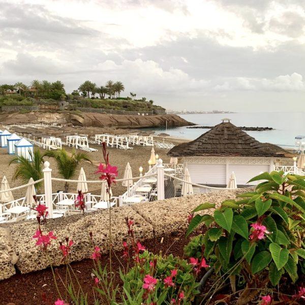 Playa del Duque Teneriffa Strand Blumen