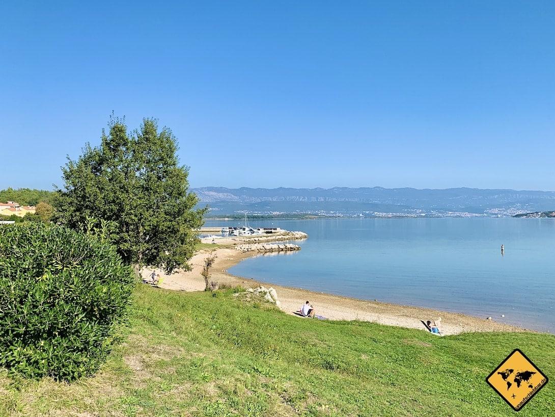 Plaža Meline Krk Kroatien