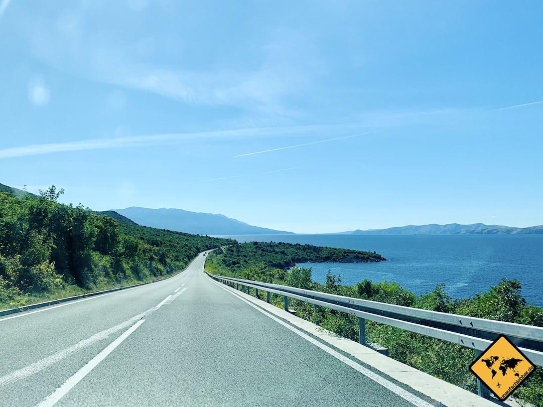 Plitvicer Seen Anfahrt Küstenstraße Kroatien