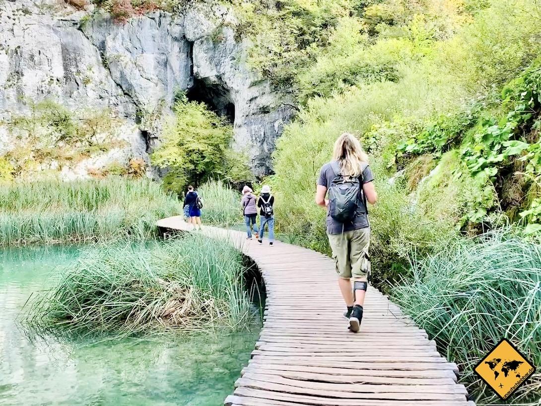 Plitvicer Seen Kroatien Holzsteg Wanderung