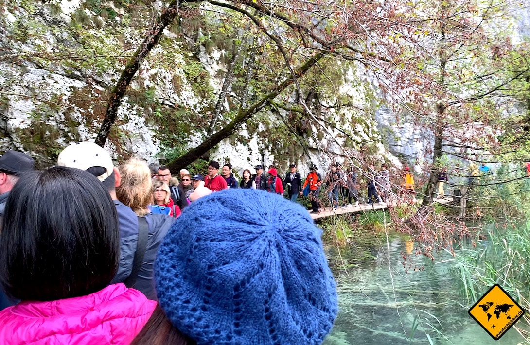 Plitvicer Seen Menschenmenge