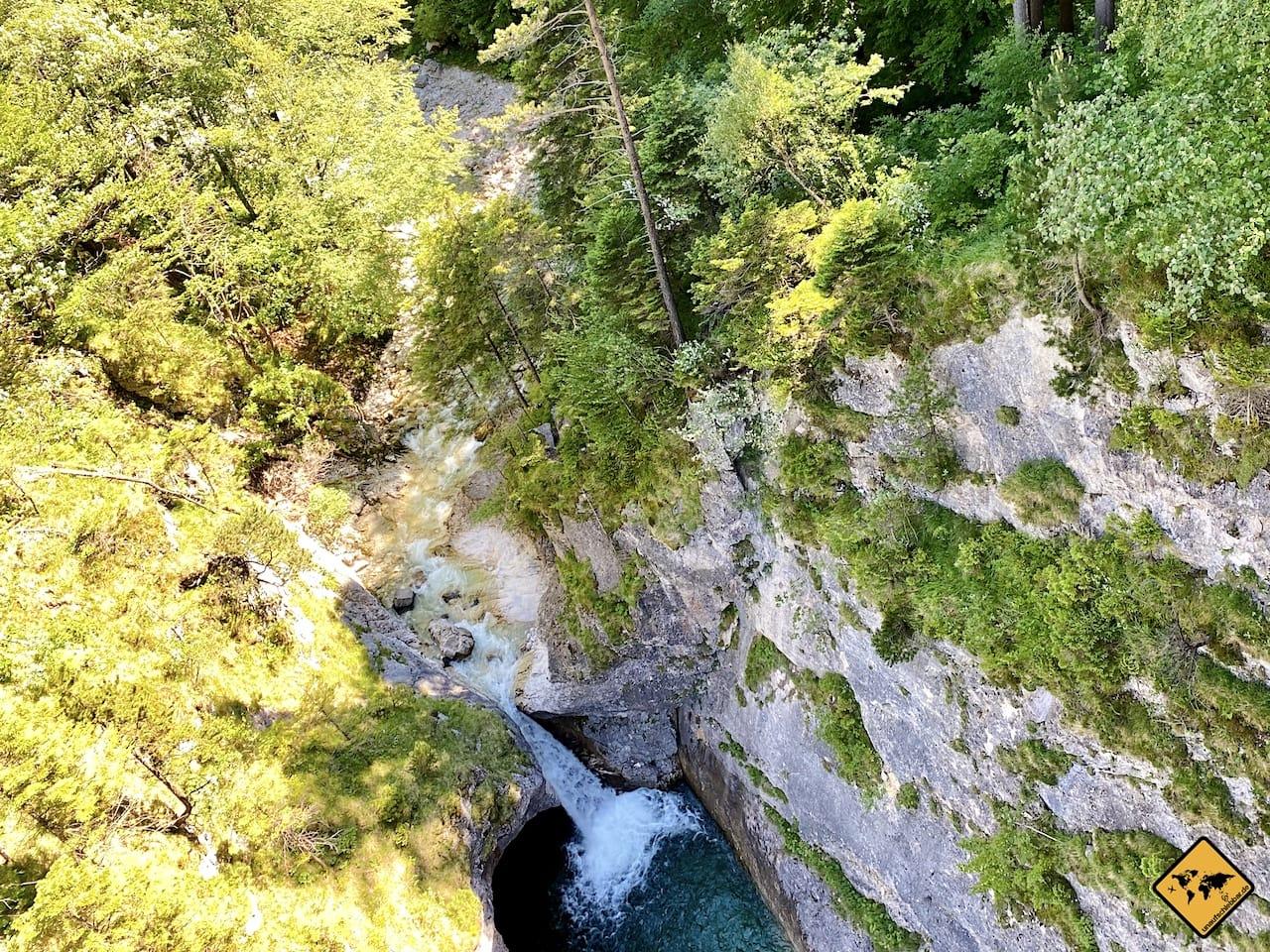 Pöllatwasserfall Sicht Marienbrücke