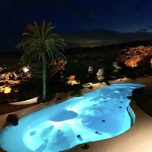 Pool Abendlicht Jameos del Agua