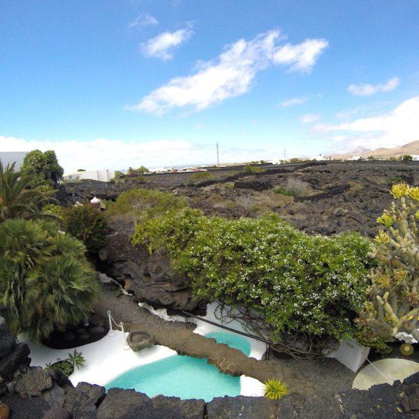Pool Garten Lava César Manrique Stiftung Lanzarote