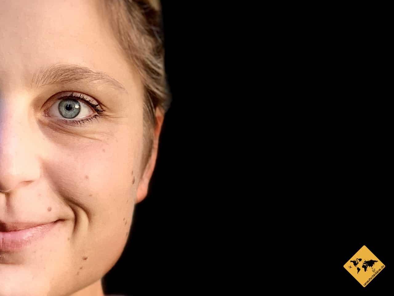 Portraitfoto halbes Gesicht