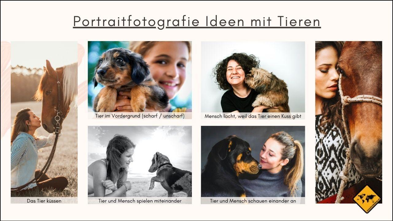 Portraitfotografie Ideen Mensch und Tier