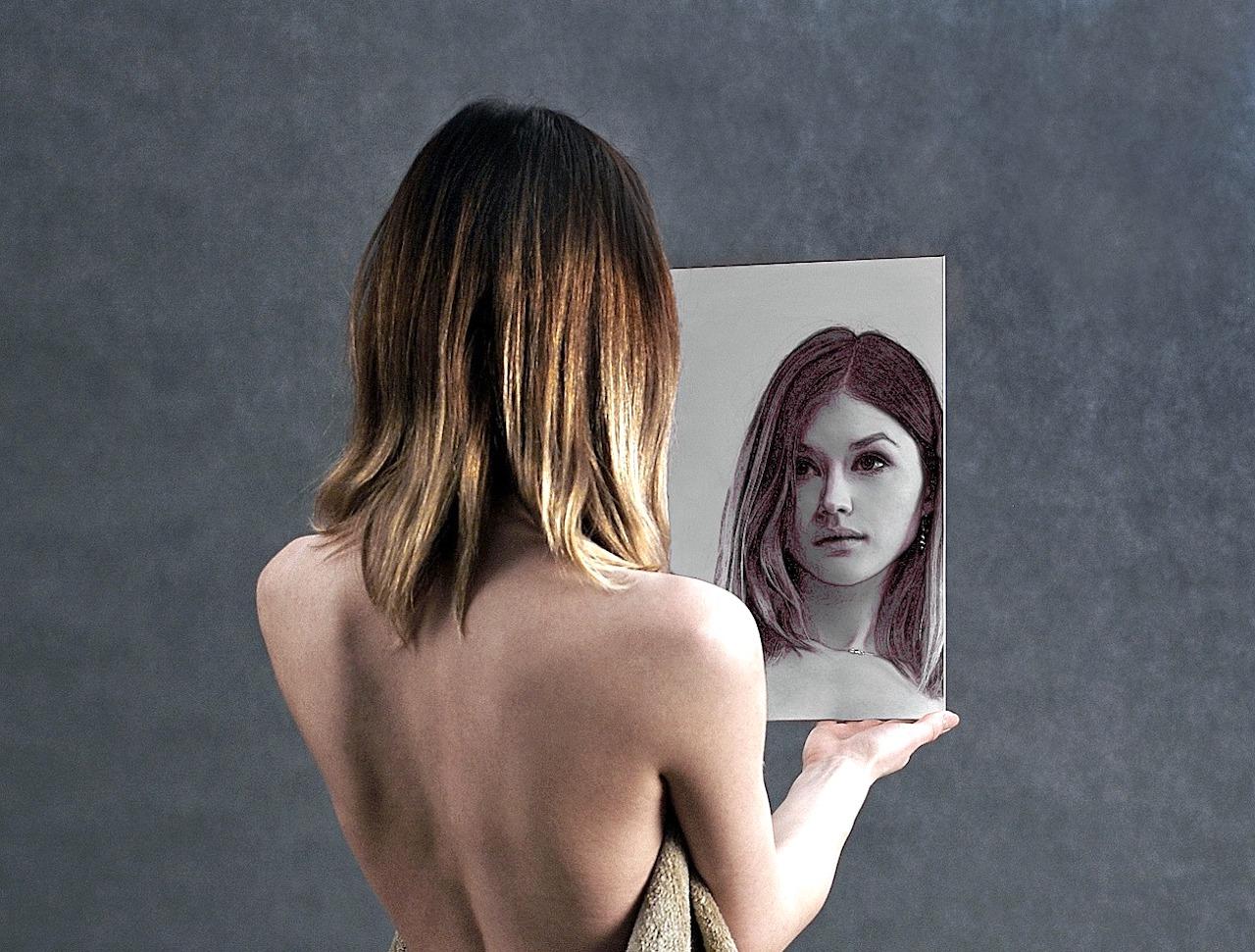 Portraitfotografie Ideen Spiegelbild