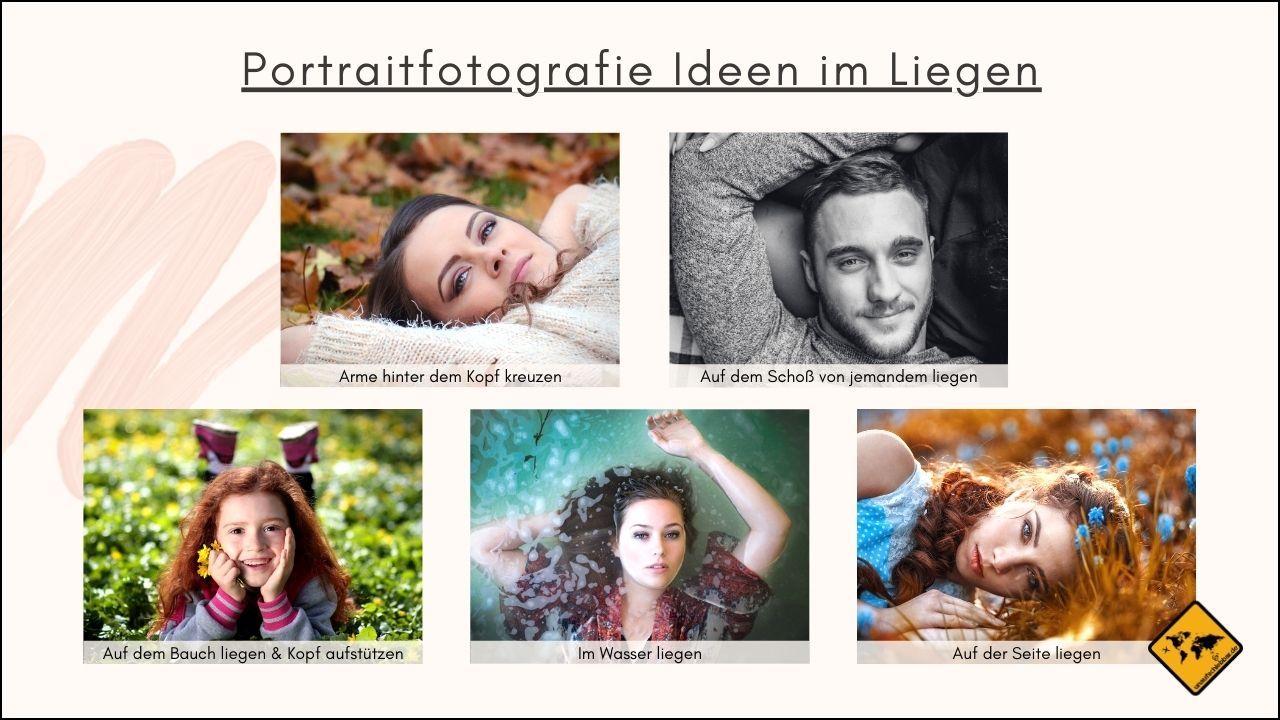 Portraitfotografie Ideen im Liegen