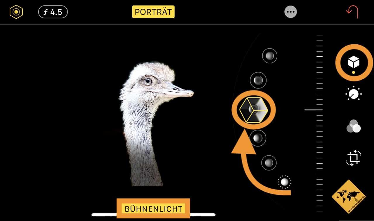 Portraitmodus iPhone Bühnenlicht