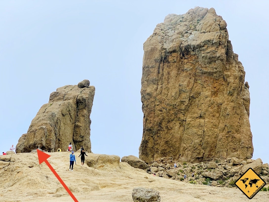 Position Felsloch Roque Nublo Gran Canaria