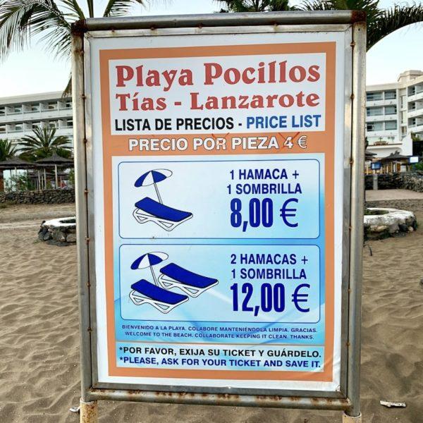 Preise Liegen Puerto del Carmen Lanzarote