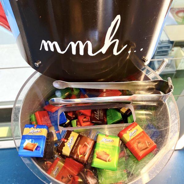 Probiertafeln Maestrani's Chocolarium