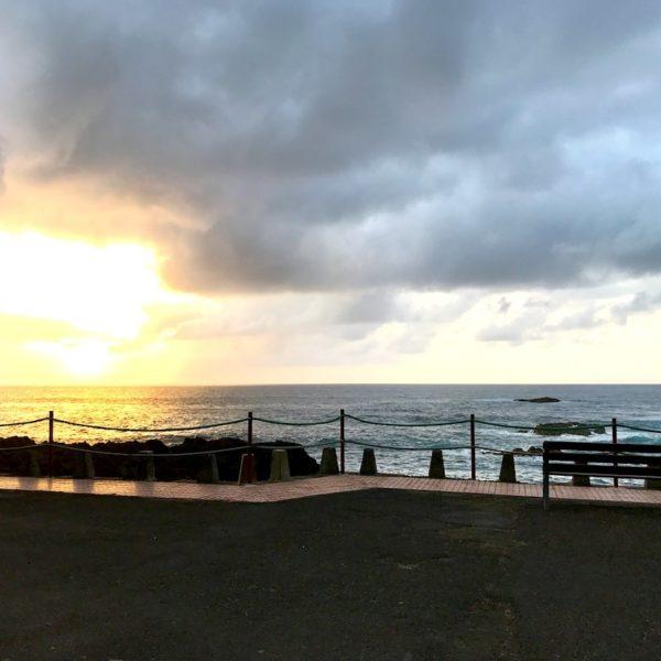 Promenade Playa de la Arena Mesa del Mar Sonnenuntergang