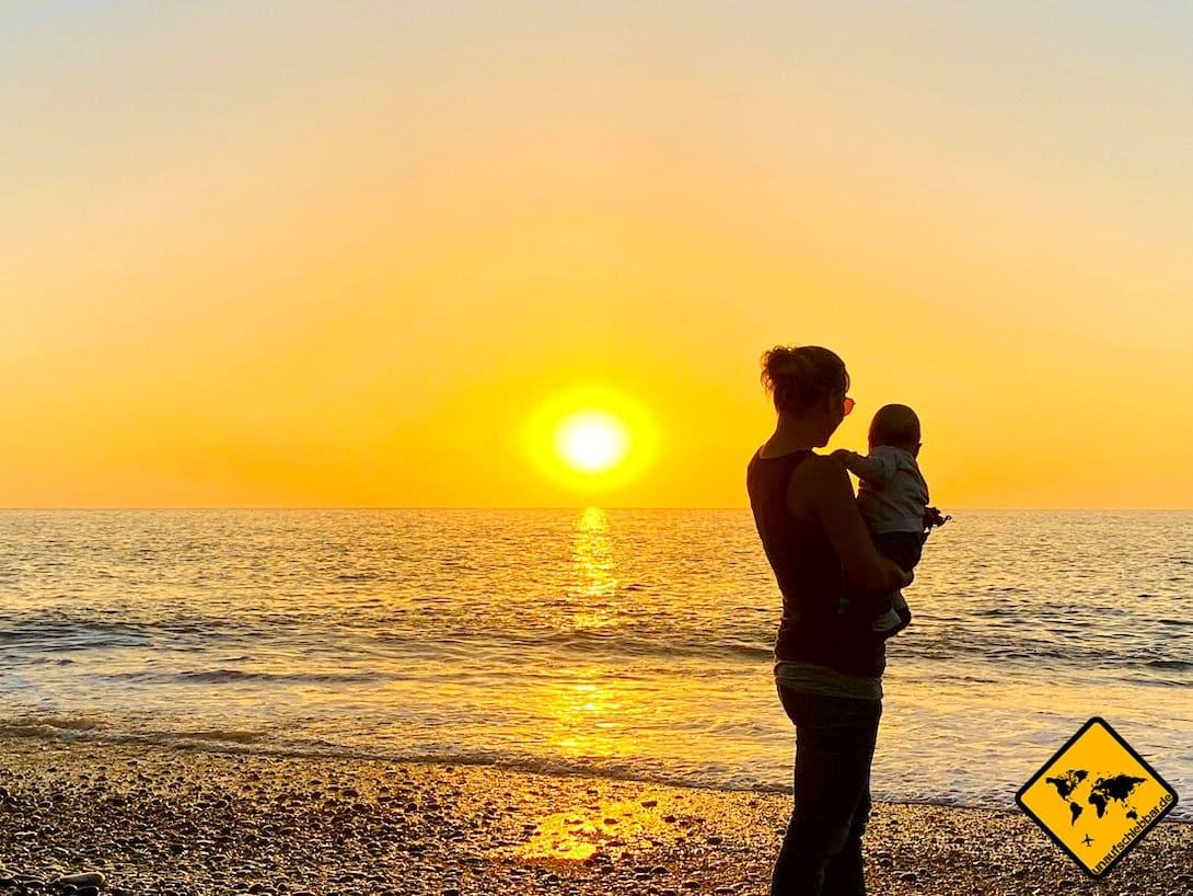 Puerto Naos mit Baby Sonnenuntergang