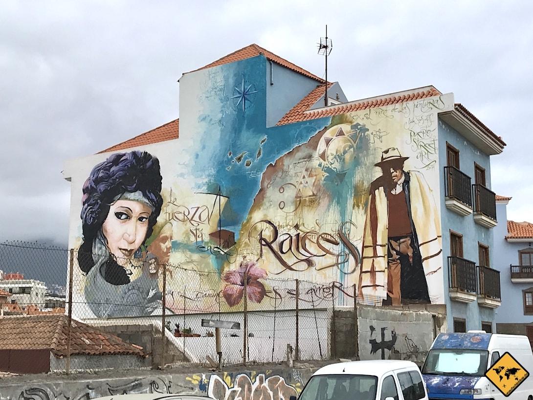 Puerto de la Cruz Streetart Teneriffa 1