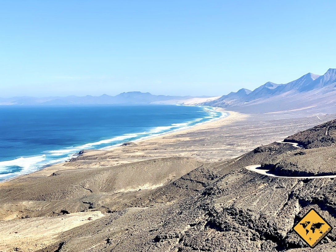 Punto de vista sobre Puerto de Montaña Fuerteventura