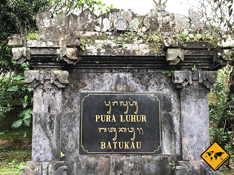 Pura Luhur Batukaru Bali Eingang