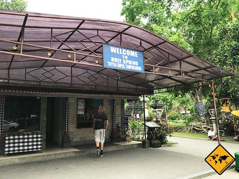 Pura Tirta Empul Bali Eingang