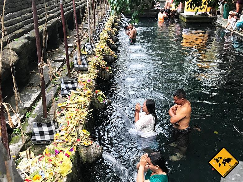 Pura Tirta Empul Bali Quellwasser