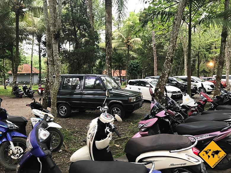 Pura Tirta Empul Parkplatz