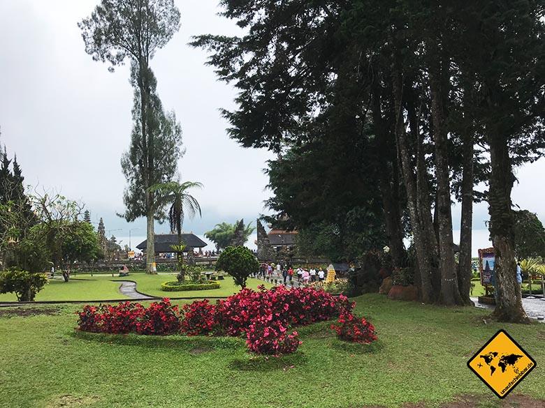 Pura Ulun Danu Bratan Temple Parkanlage