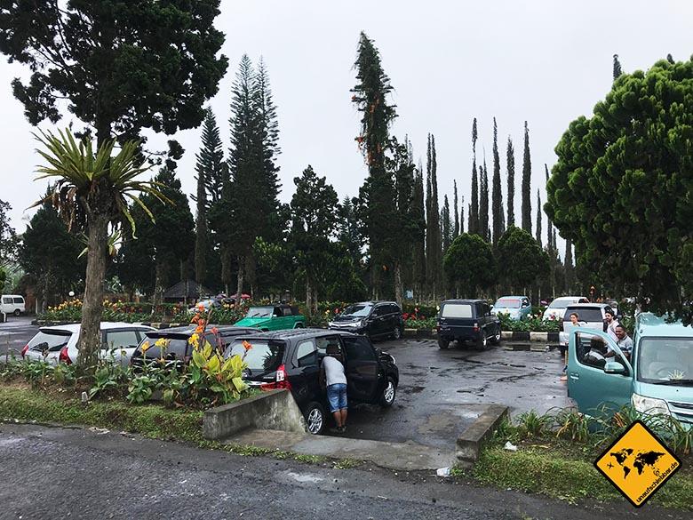 Pura Ulun Danu Bratan Temple Parkplatz