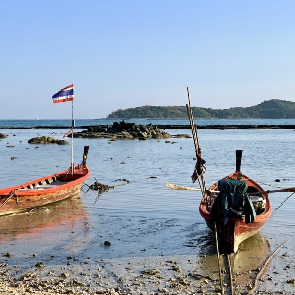 Rawai Beach Boote Ebbe