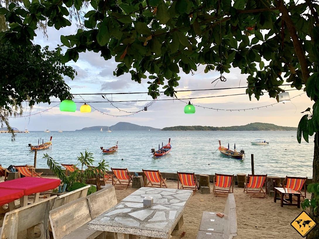 Rawai Beach Restaurant Meerblick