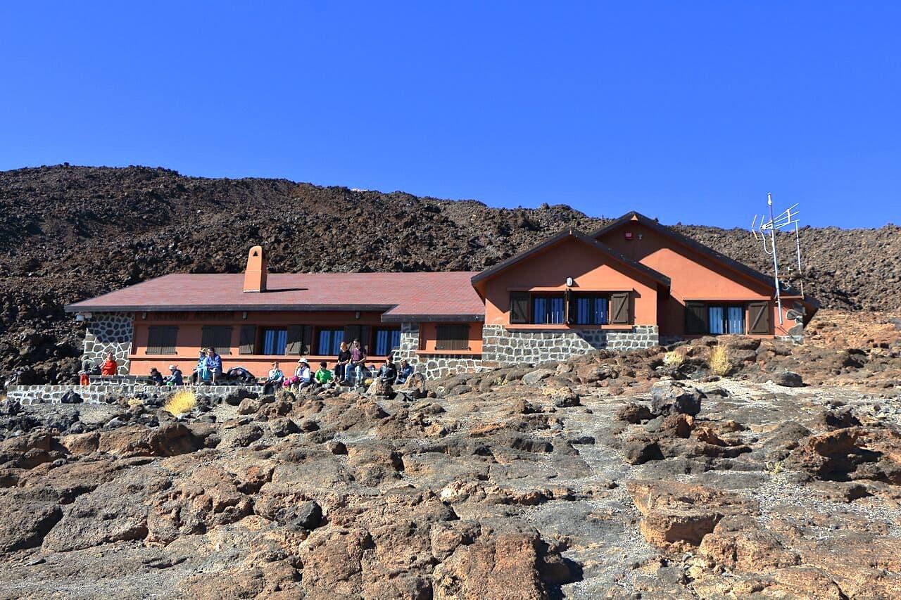 Refugio Altavista Hütte Teide Wanderung