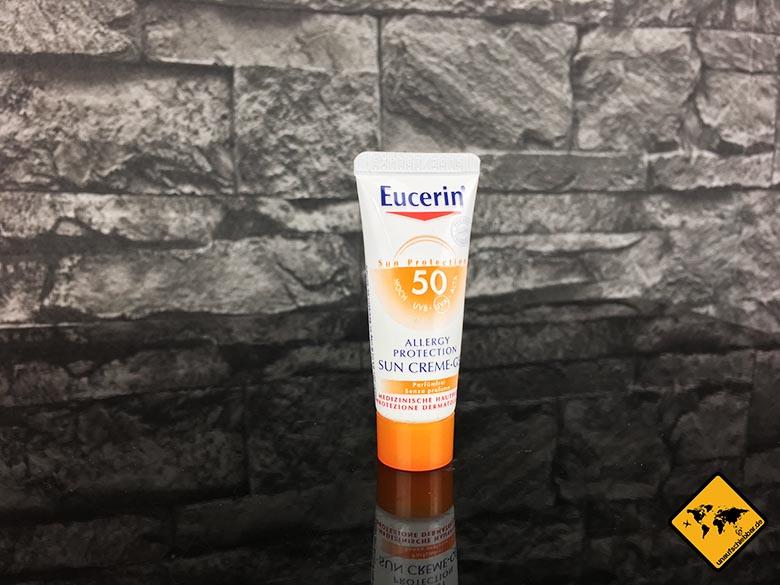 Reise Gadgets für Frauen Eucerin Sun Protection 50