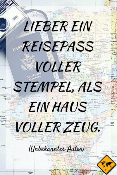 Reise Zitate Reisepass
