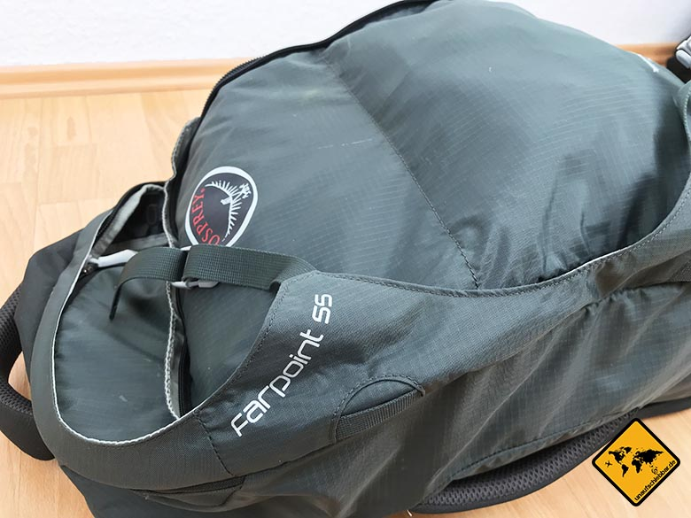 Reisecheckliste Rucksack Osprey Farpoint 55