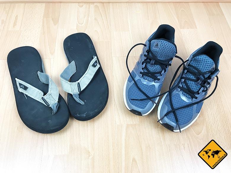Reiseliste Schuhe Mann