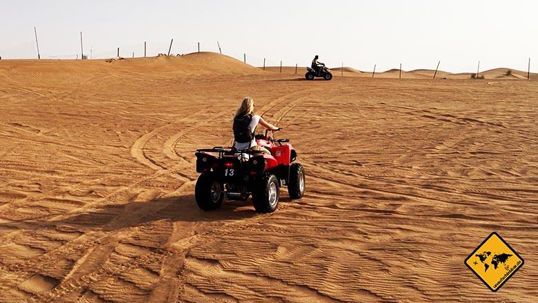 Reisen und Sport Quad fahren