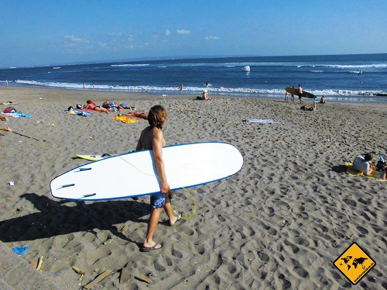 Sport auf Reisen surfen