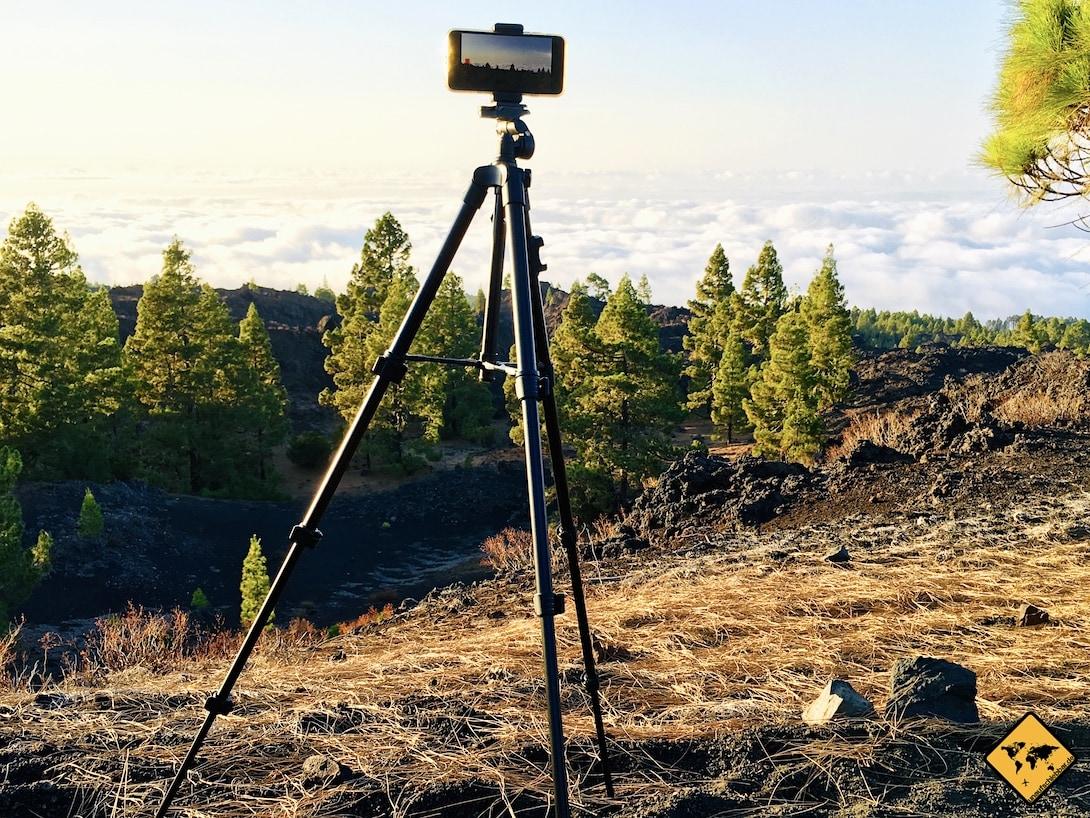 Reisestativ Empfehlung Fotopro Stativ über den Wolken