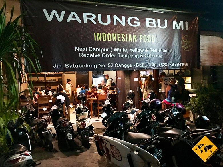 Reisetipps Bali Warung BuMi Canggu