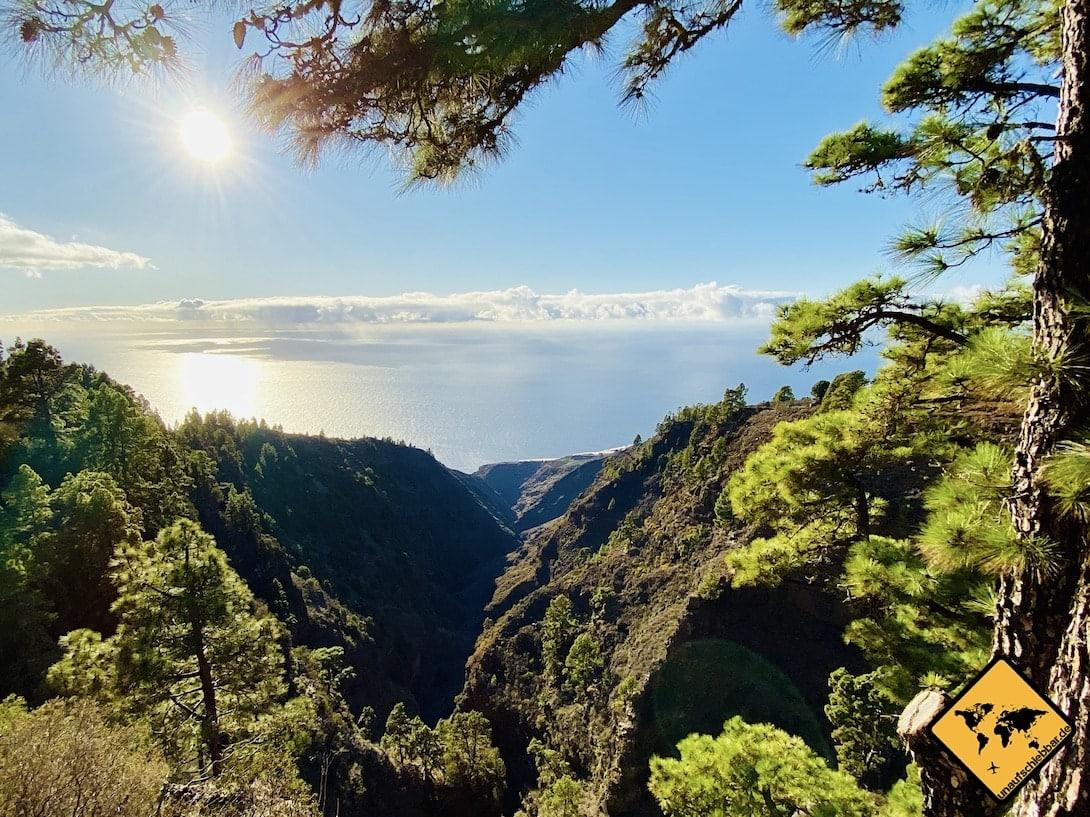 Reisetipps La Palma Mirador Barranco de Garome