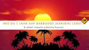 Wie du bald 1 Jahr auf Barbados (Karibik) leben & remote arbeiten kannst