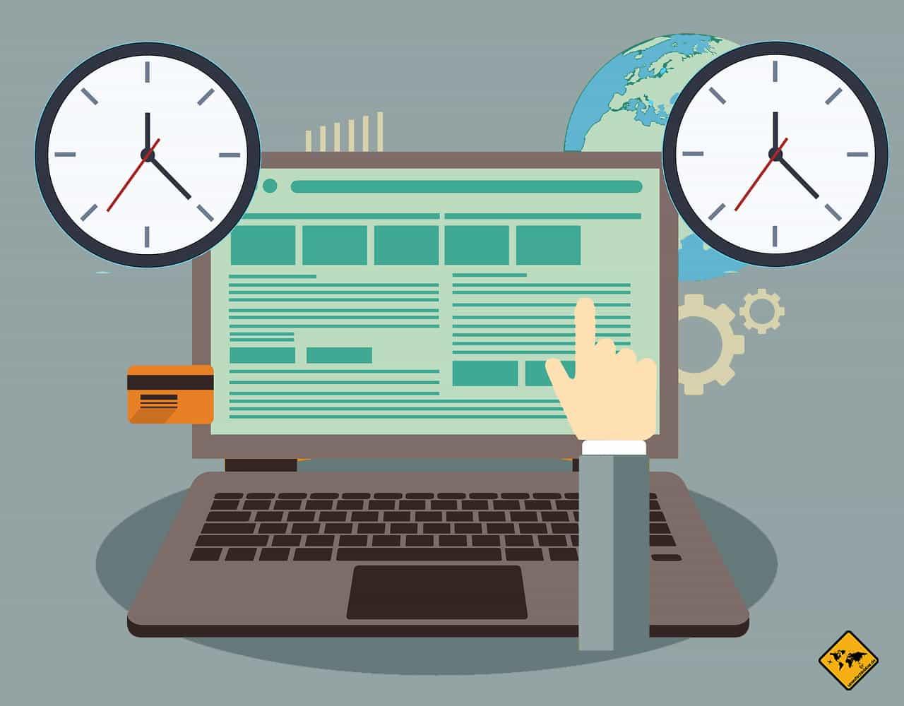 Remote arbeiten im Ausland Fehler Job mit Zeitunterschieden